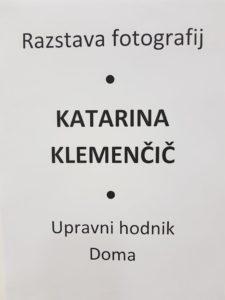 Razstava fotografij-Katarina Klemenčič