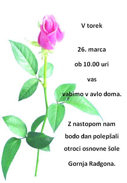 Nastop otrok OŠ Gornja Radgona ob materinskem dnevu