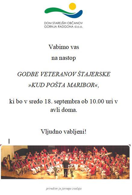 Godba veteranov Štajerske KUD Pošta Maribor