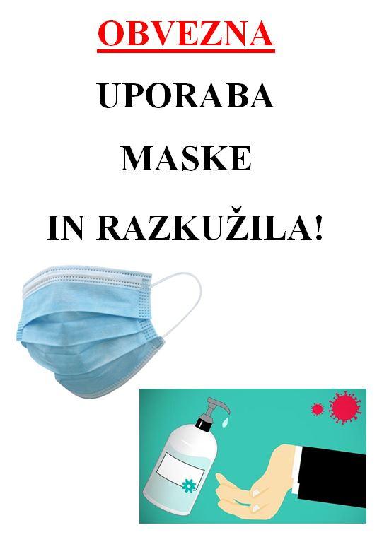 OBVEZNA UPORABA MASKE!!!